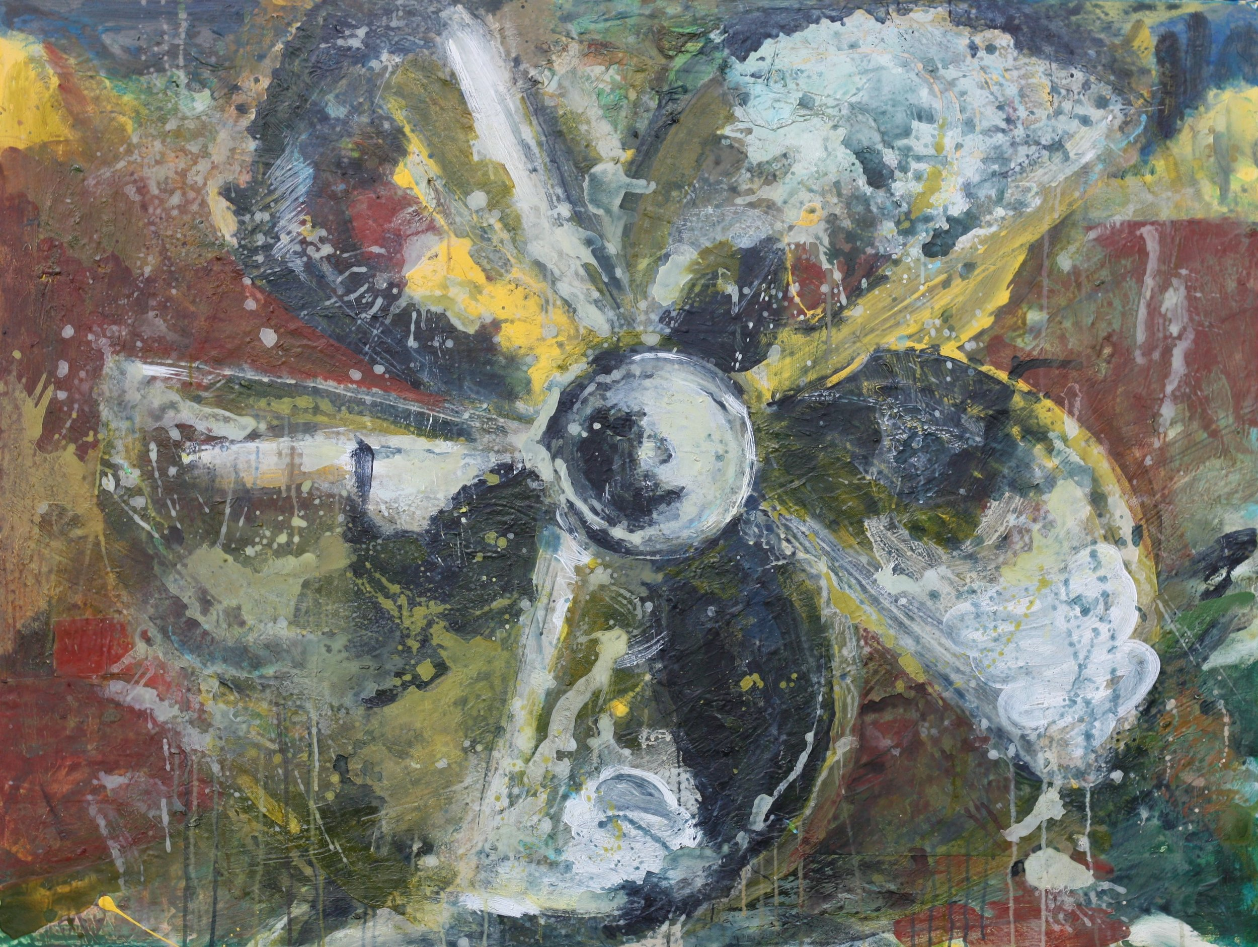 PROPELLER,   acrylic on canvas 36'' x 48''