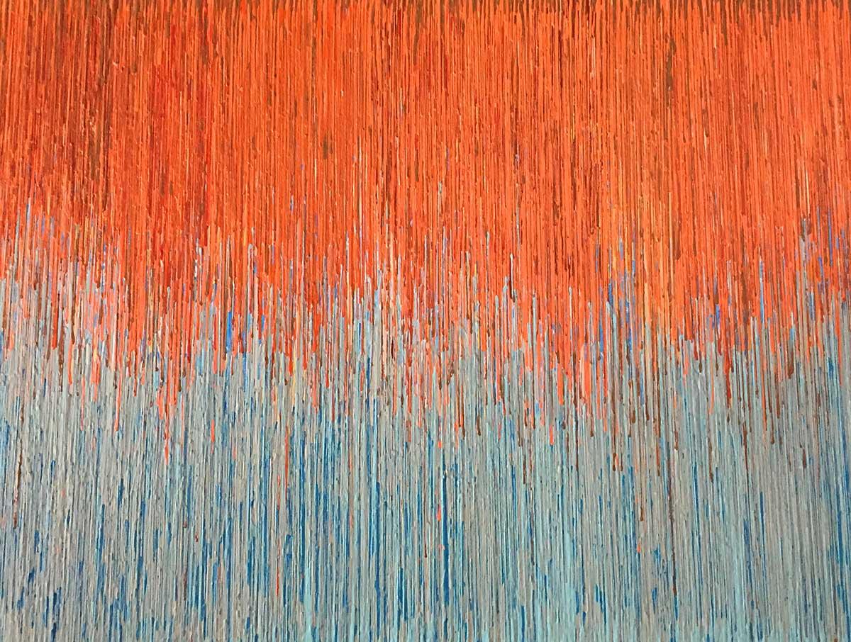 """DRIP 4 - acrylic on canvas - 36"""" X 48"""""""