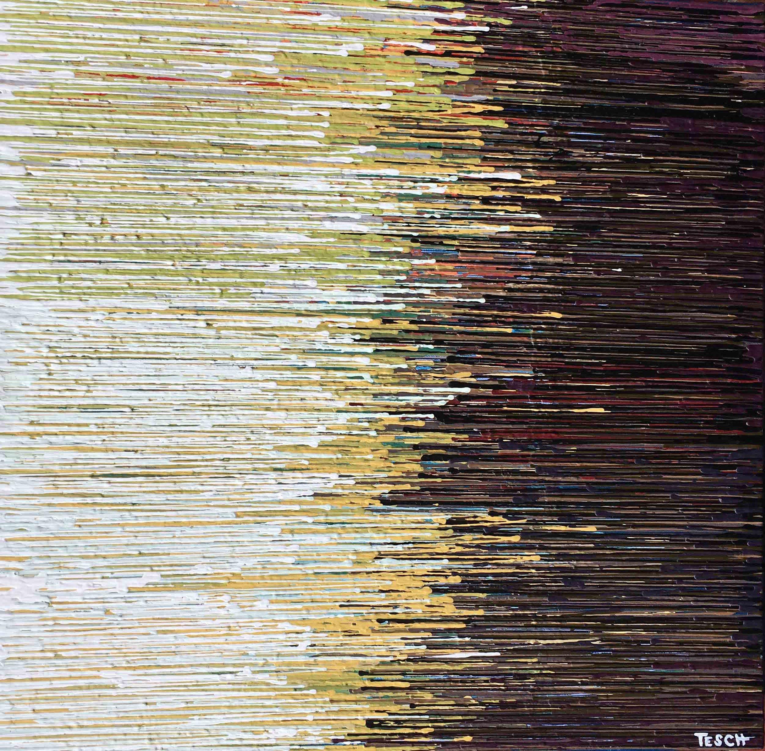 """DRIP 5 - acrylic on canvas - 24"""" x 24"""""""