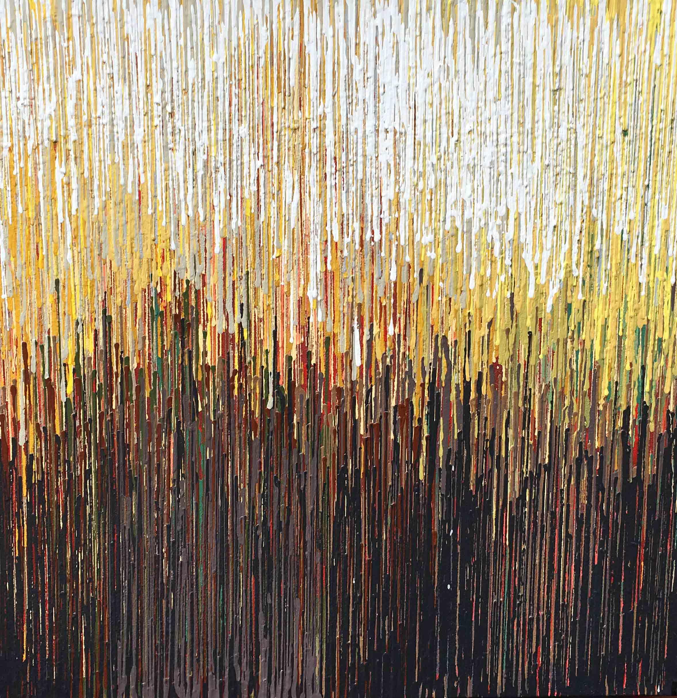 """DRIP 6 - acrylic on canvas - 24"""" x 24"""""""