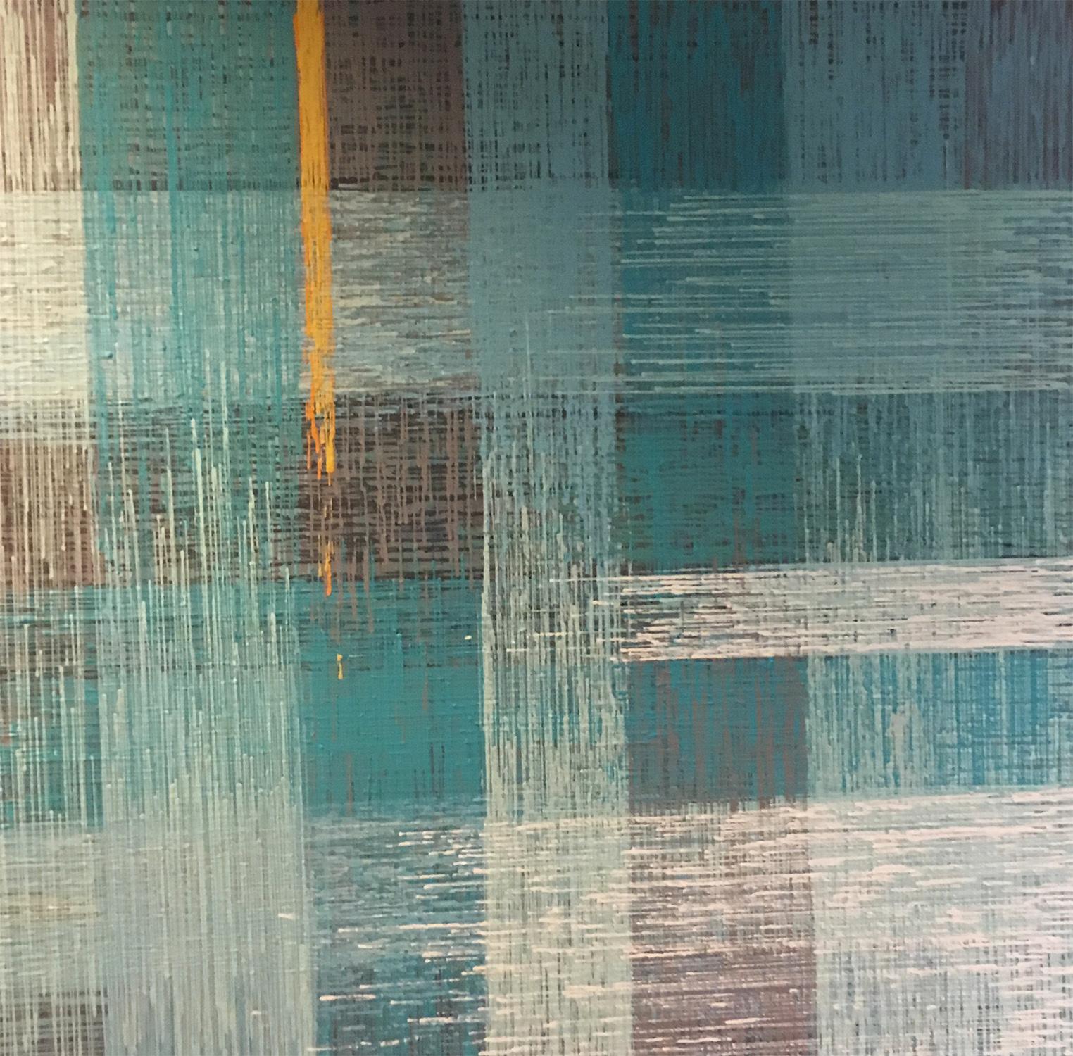 """DRIP 11 - acrylic on canvas - 48"""" x 48"""""""