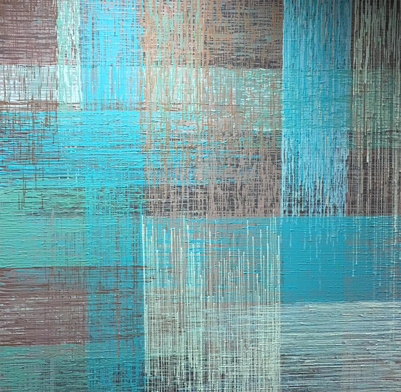 """DRIP 12 - acrylic on canvas - 48"""" x 48"""""""