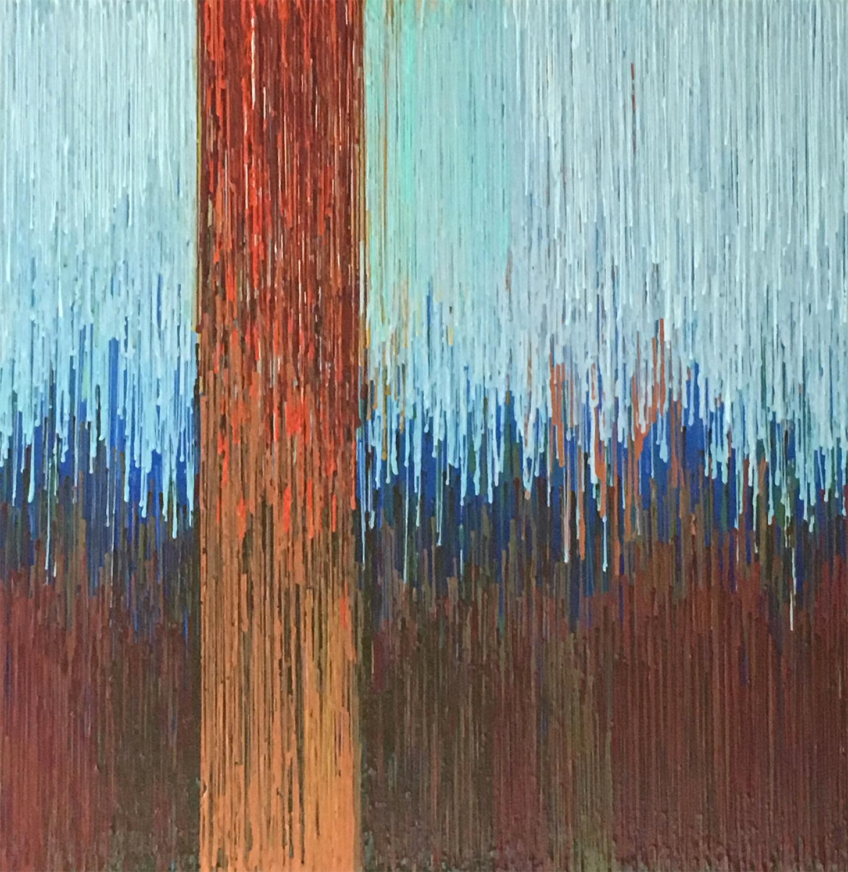 """DRIP 14 - acrylic on canvas - 30"""" x 30"""""""