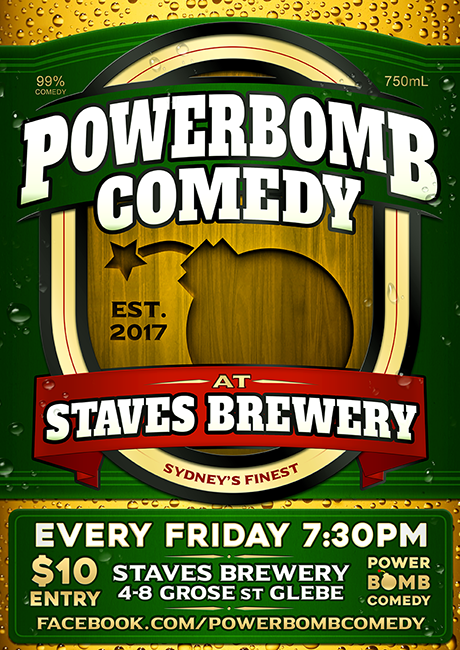 Powerbomb Comedy at Staves Brewery