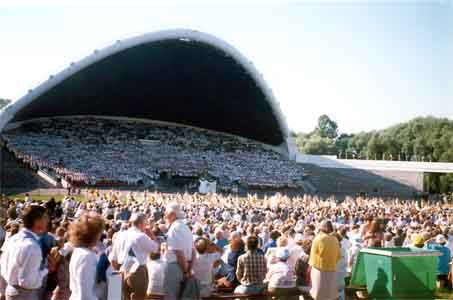 The famous Song Grounds with a mass choir