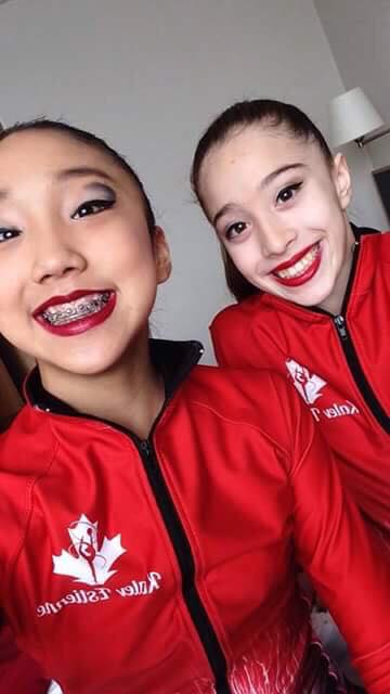 Joy and Sianna are ready for Otepää competition! Good luck for today😘