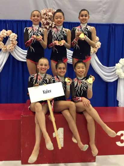 Kalev's Novice Group at the Provincials 2016 (members: Valentina, Melody T, Sonya, Bobbi, Jasmine and Melody C).