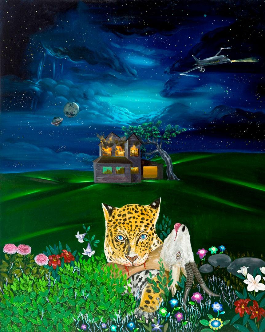Büyü de Büyü I, 160x130cm, oil on canvas, 2014  (Private Collection)
