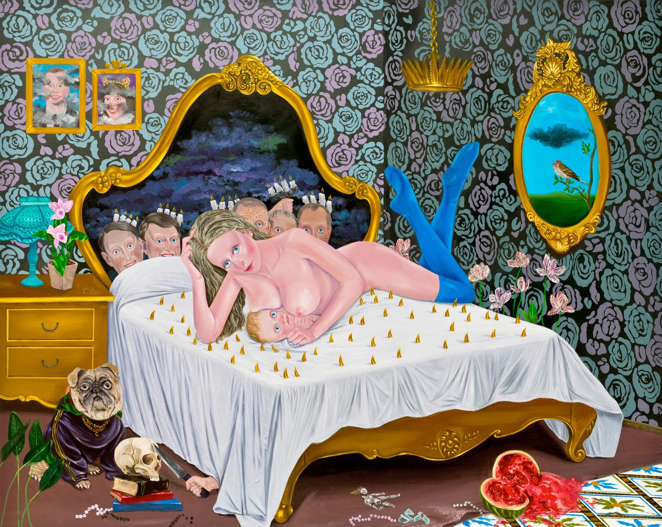Kill Him Make Me Laugh III, 175x220cm, oil on canvas, 2014  (Private Collection)