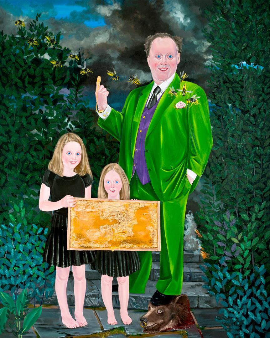 Kill Him Make Me Laugh IV, 200x160cm, oil on canvas, 2014  (Private Collection)