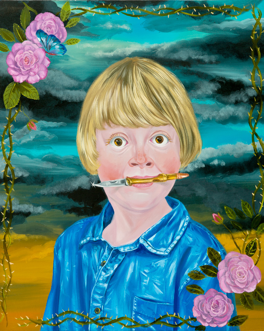 I Know Your Best Face II, 60x50 cm, oil on canvas, 2014  (Private Collection)