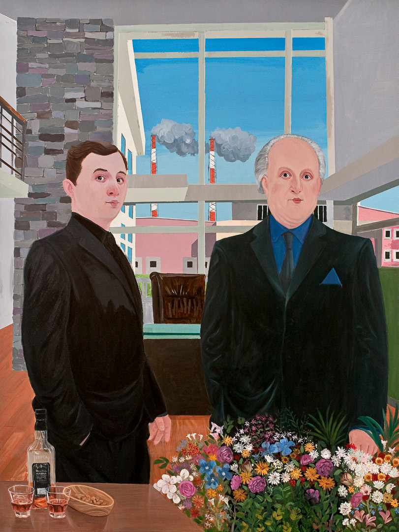 Inheritance Passes From Father to Son IV, 190x140cm, oil on canvas, 2011  (Private Collection)