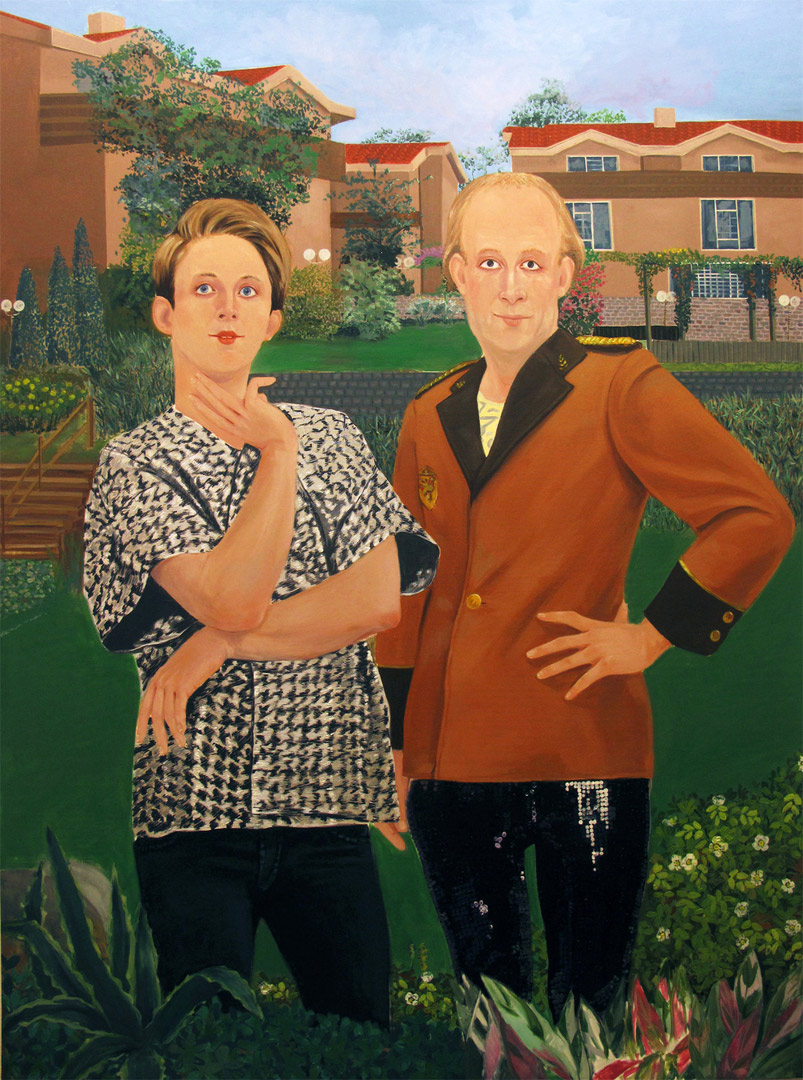 Inheritance Passes From Father to Son II, 190x140cm, oil on canvas, 2011  (Private Collection)