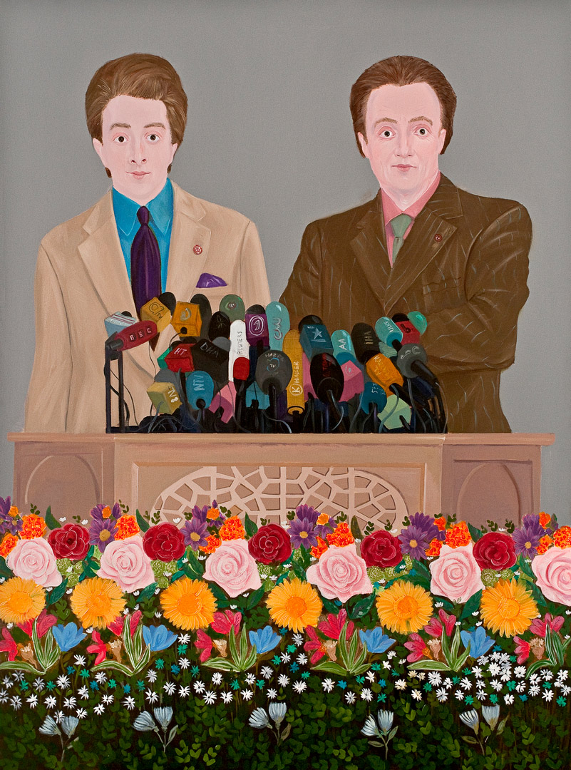 Inheritance Passes From Father to Son VII, 190x140cm, oil on canvas, 2011  (Private Collection)