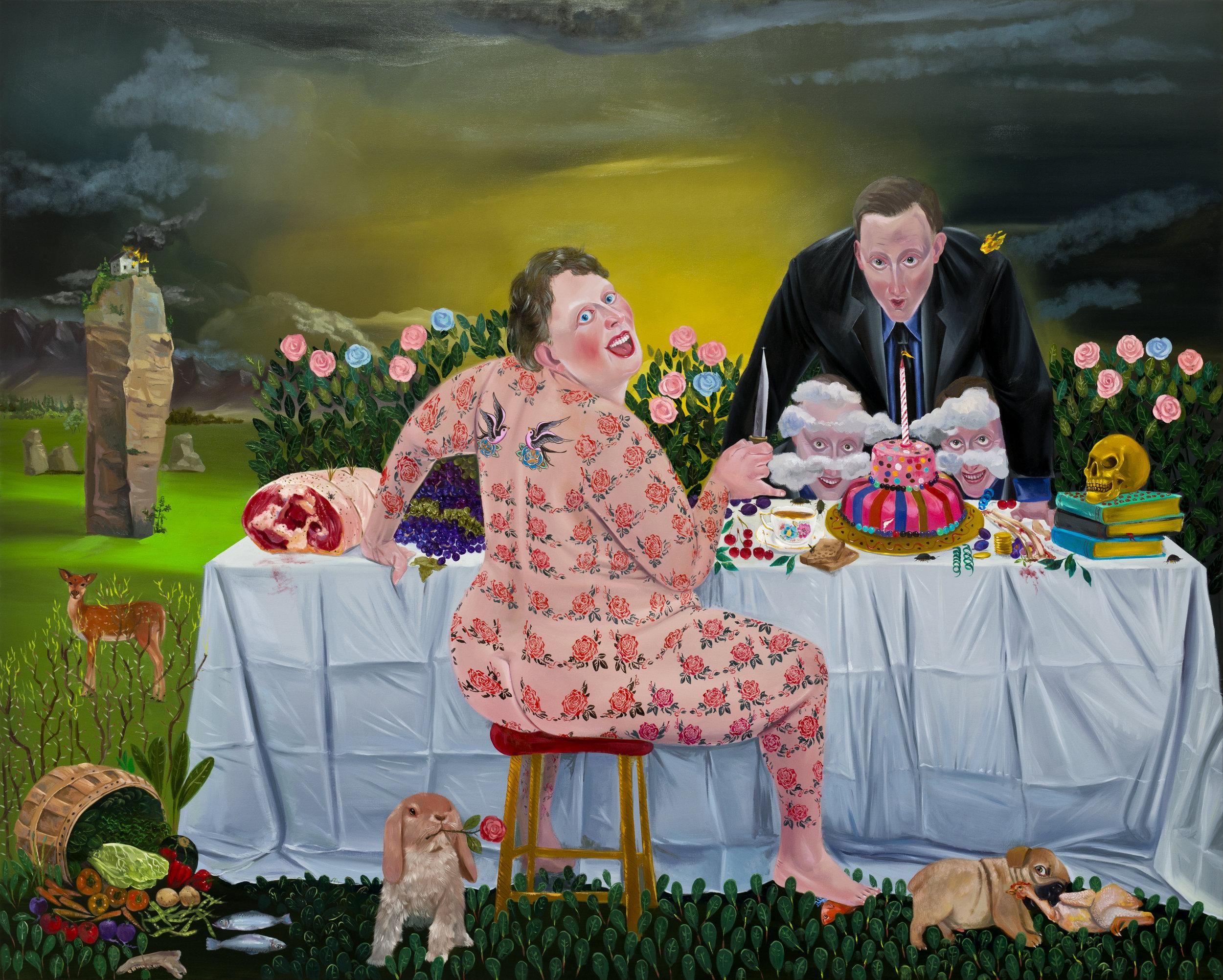 Kill Him Make Me Laugh V, 175x220cm, oil on canvas, 2014  (Private Collection)