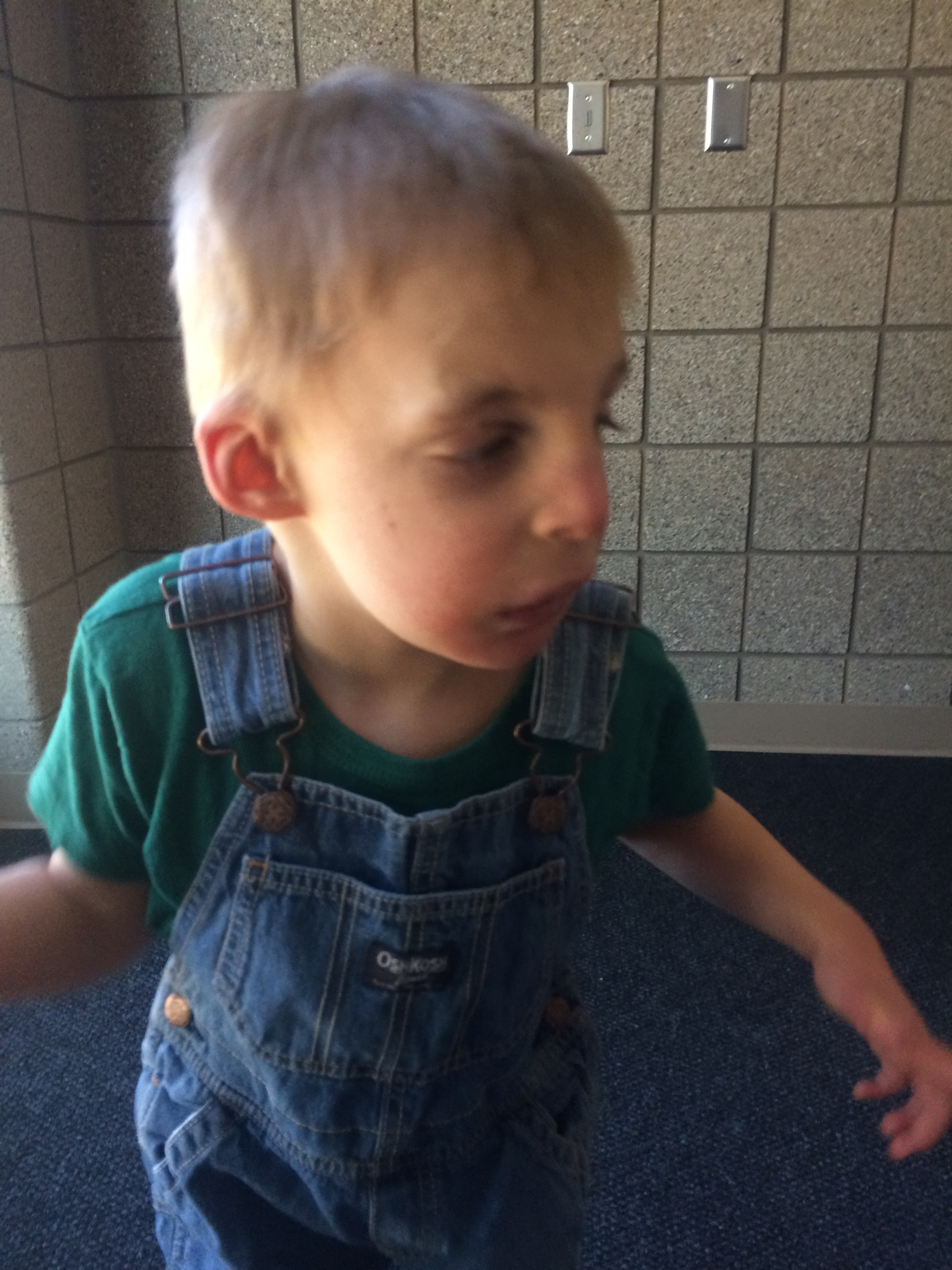 Atticus, spring of 2016, holding my hand as we walk down the hall at his preschool. I was so nervous when he turned 3 and entered the school system--he'd only ever been away from me when he was in the hospital and his dad was swapping me out--but it was such a wonderful thing for him. He absolutely adored it.