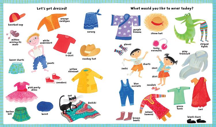My Big Barefoot Book of Wonderful Words illustration of clothing