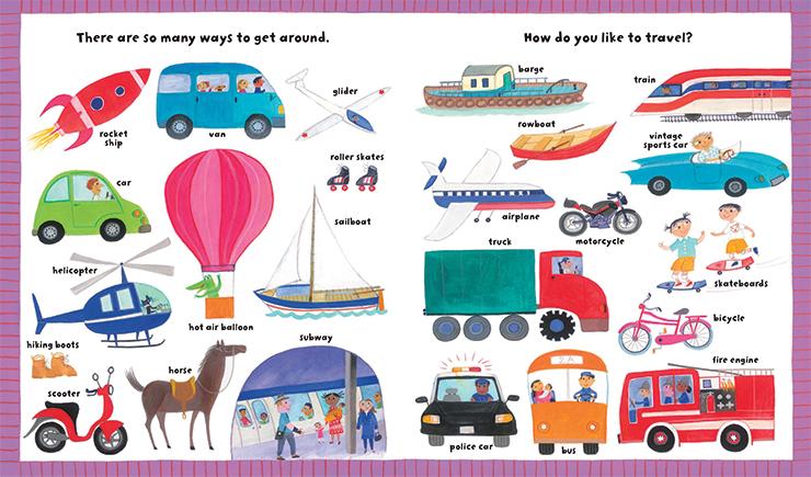 My Big Barefoot Book of Wonderful Words children's literature transportation illustration