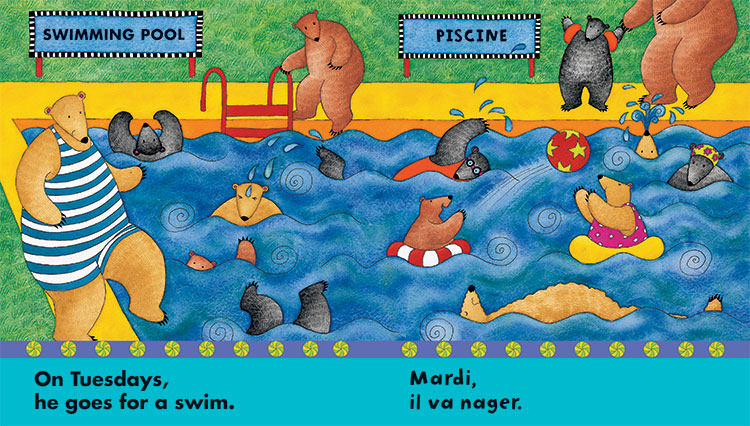 The illustrations are fun for children to point add and provide additional opportunities for naming.