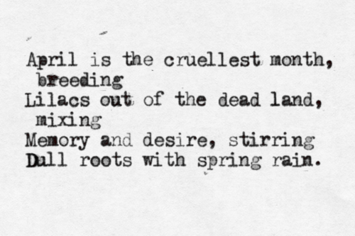 "T.S. Eliot, ""The Wasteland"""