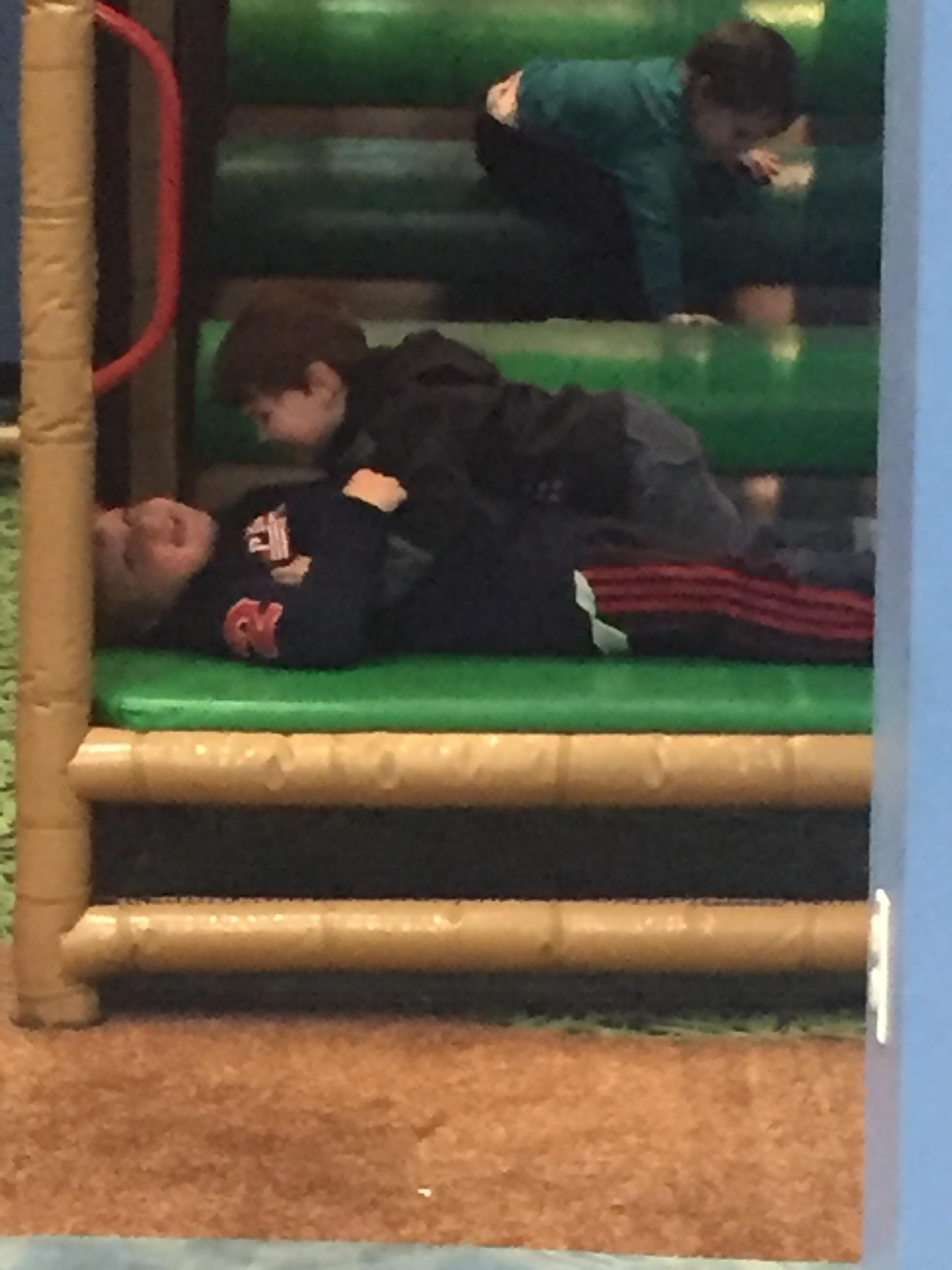 Damien and Everett, hugging a few days ago.