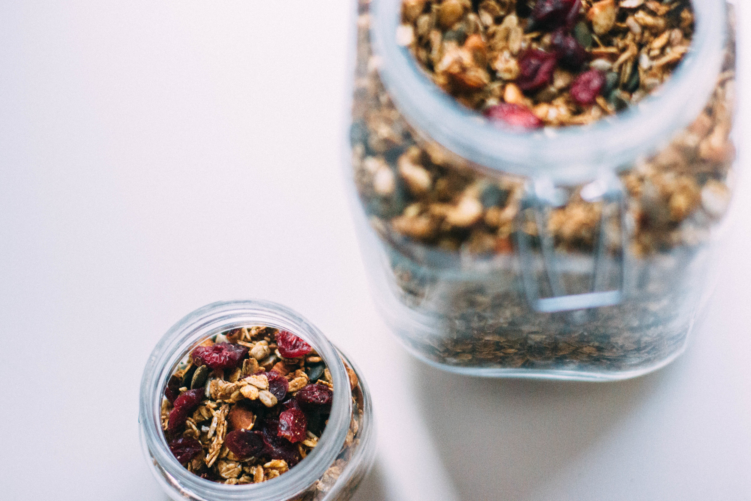 orange & cranberry granola