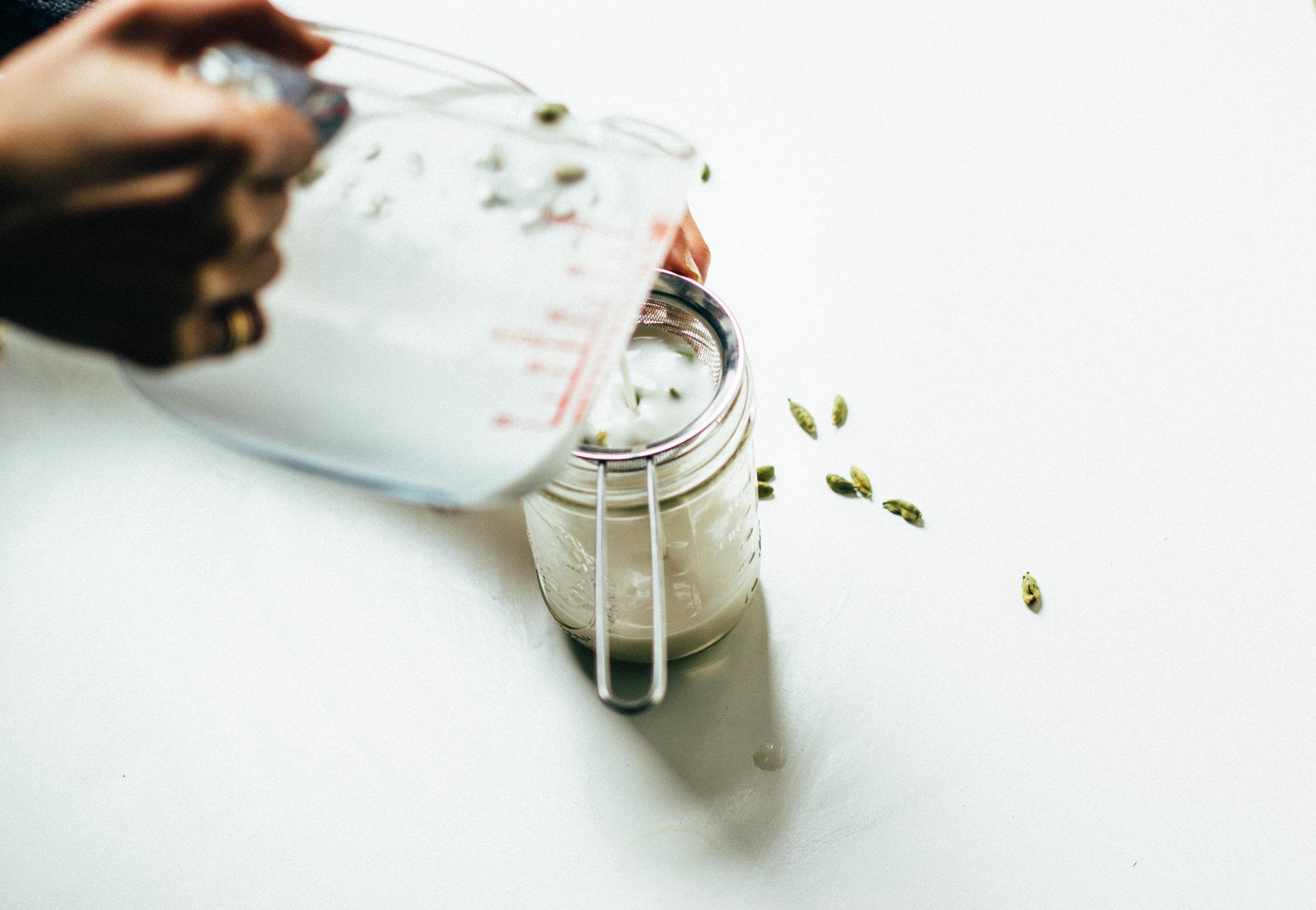 dairy free, honey sweetened coconut + cardamom ginger ice cream (anti-inflammatory)
