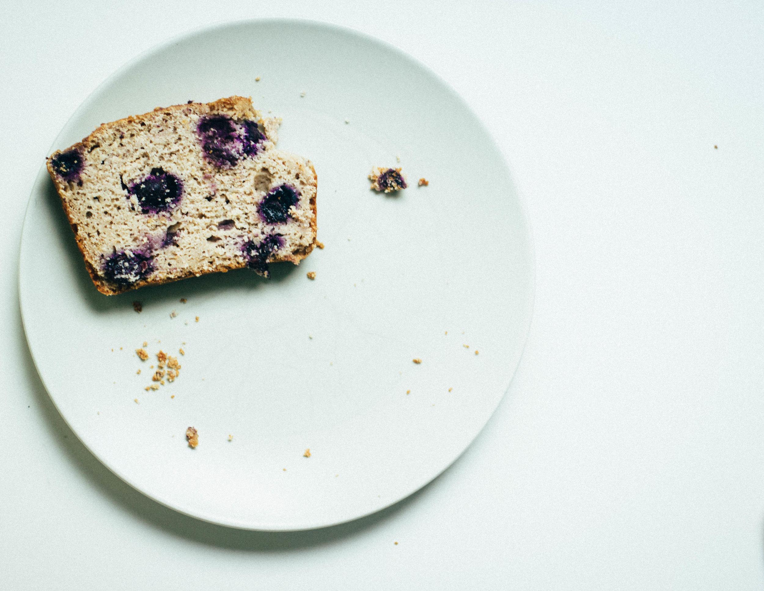 lemon - blueberry loaf