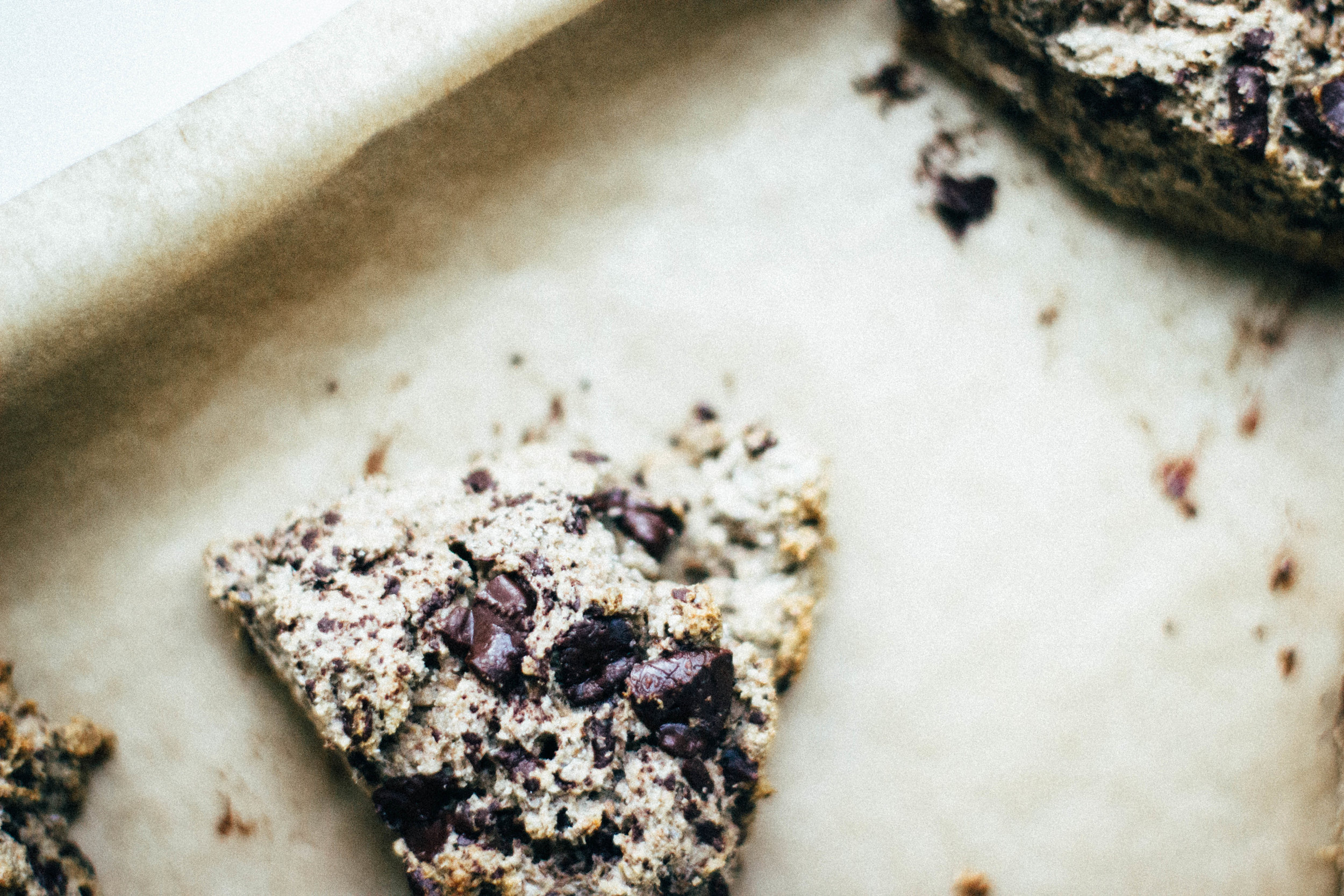 dark chocolate + cardamom rye scones