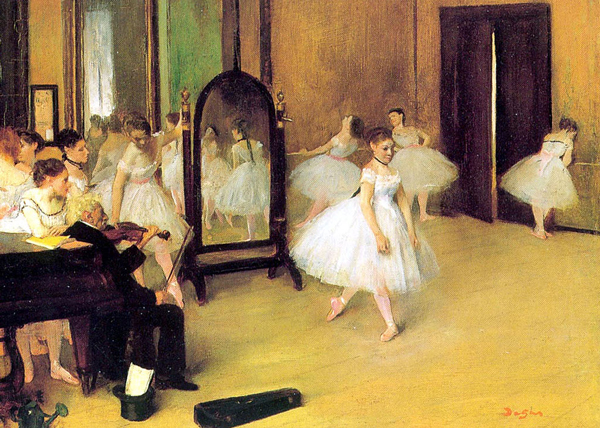 Edgar Degas is rightly considered a creative genius from the dawn of Impressionism, and his works typically depict ballet, horse races, and the bourgeois cafe scene. Pain and suffering are not preconditions for good artwork and we need to stop saying they are. Credit:   Edgar Degas, Dance Class , 1871, The Metropolitan Museum of Art, New York City
