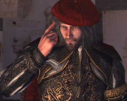 Leonardo da Vinci, occasional ally and tech support to the Brotherhood of Assassins from Assassin's Creed 2.Credit: Ubisoft