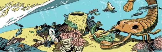 Panel from Book 2: The Ordovician/Silurian from Estrella Vega's Paleozoic Series. Credit:  Estrella Vega