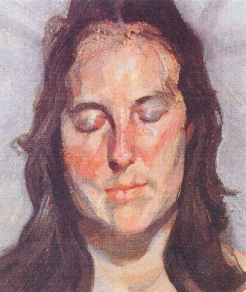 Woman with Eyes Closed, 2002. Lucien Freud.