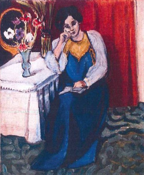 La Liseuse en Blanc et Jaune, 1919. Henri Matisse.