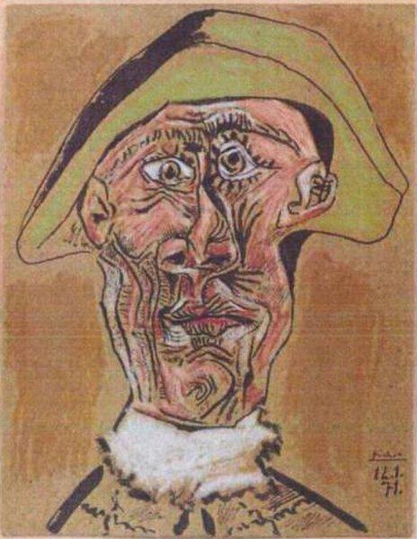 Tête d'Arlequin, 1971. Pablo Picasso.