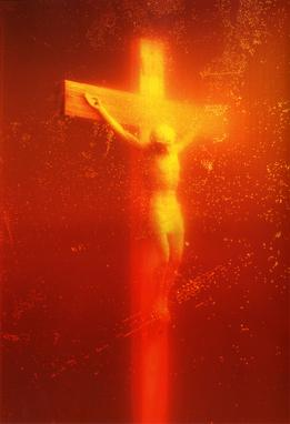 Piss Christ by Serrano Andres  (1987). Fair use.