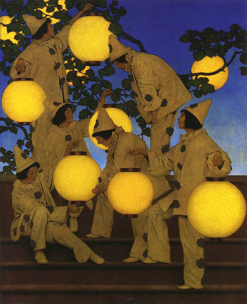The Lantern Bearers, by Maxfield Parrish, 1908.