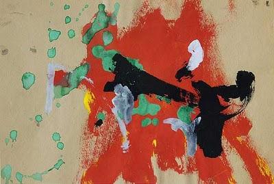 Oeuvre 5, by chimpanzee-artist Congo.