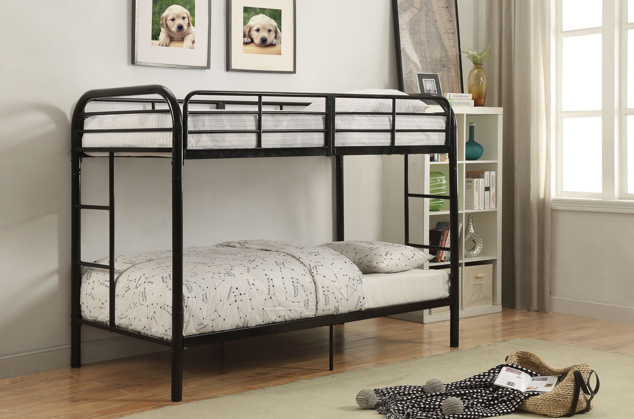 Picture of: Thomas Twin Size Bunk Bed In Black Casa Bella Furniture Quality Furniture Home Goods