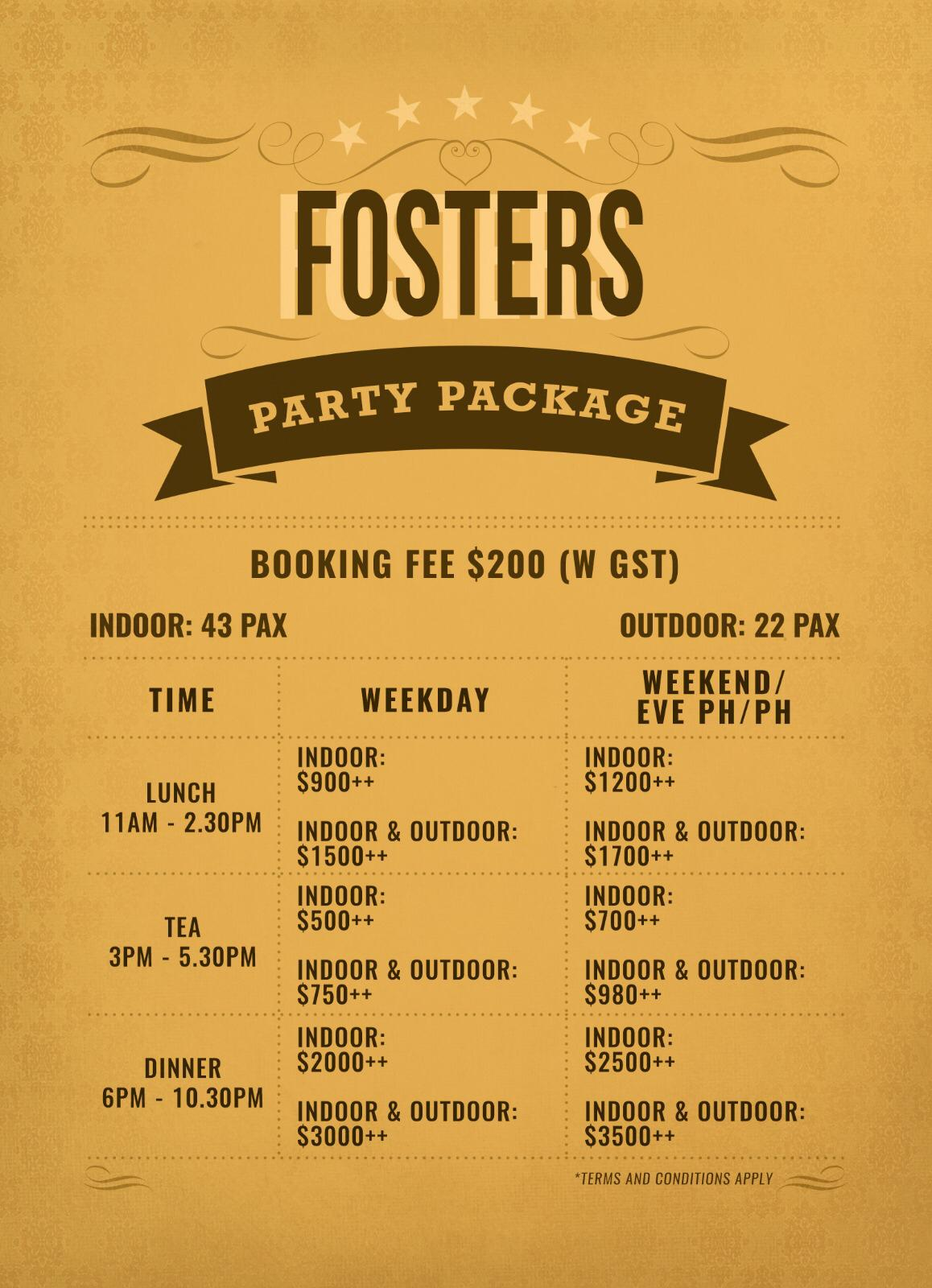 Fosters Restaurant - Event Hosting.jpg