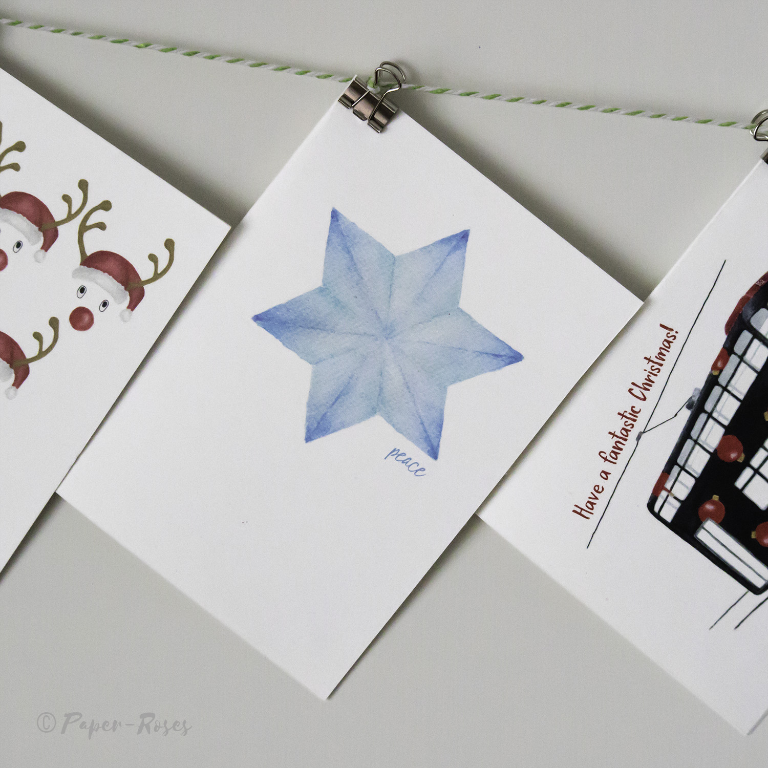 Paper-Roses | Festive shop | Starflake holiday card