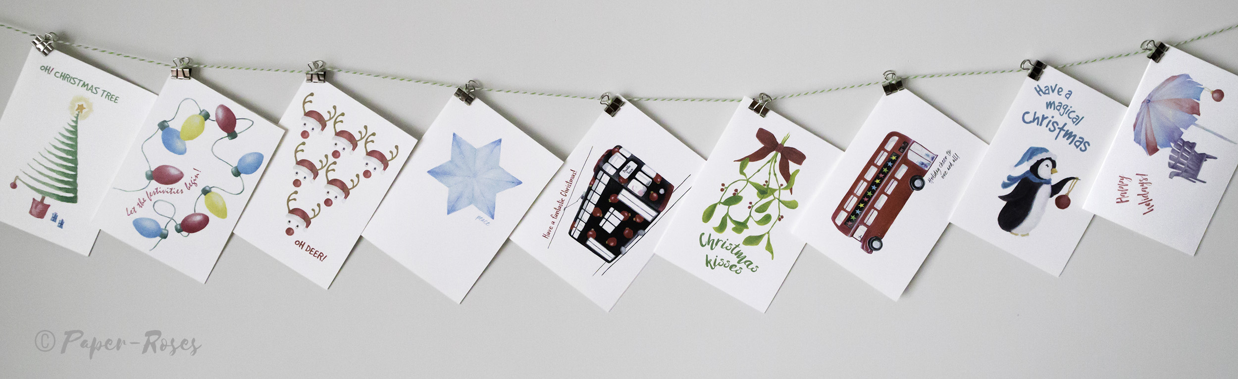 Paper-Roses | Festive shop | Greetings cards