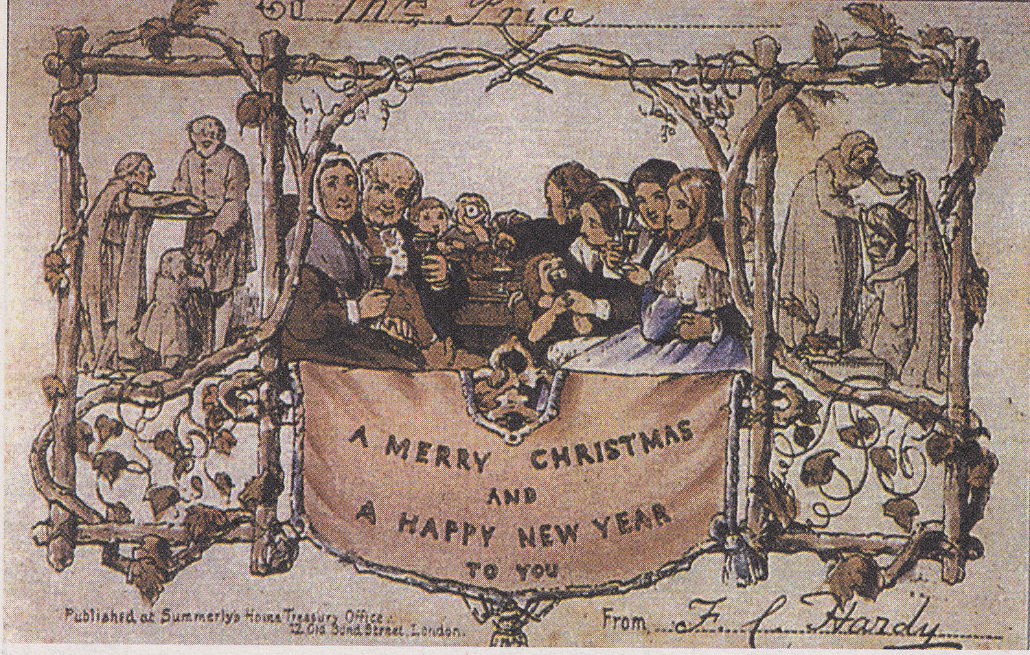 Image of the first Christmas card | JC Horsley via Wikipedia Commons