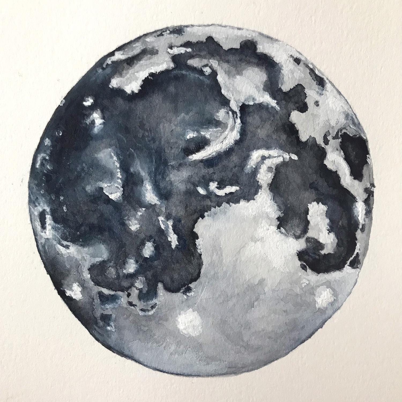 Paper-Roses | Original artwork by Penny Creedon | Full moon | Image 5