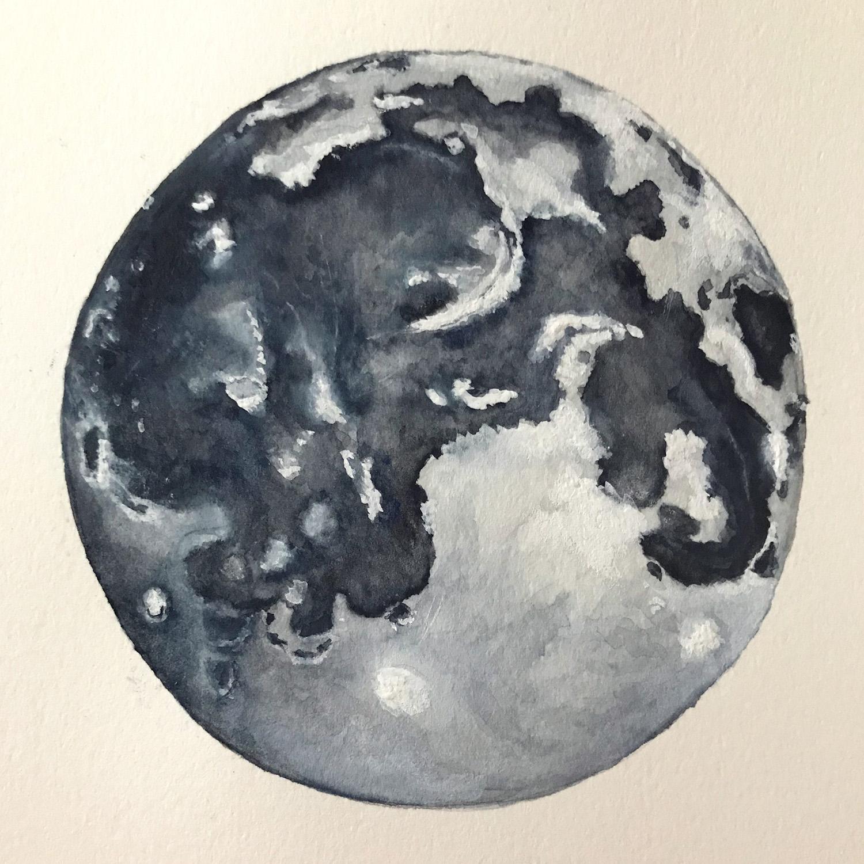 Paper-Roses | Original artwork by Penny Creedon | Full moon | Image 6