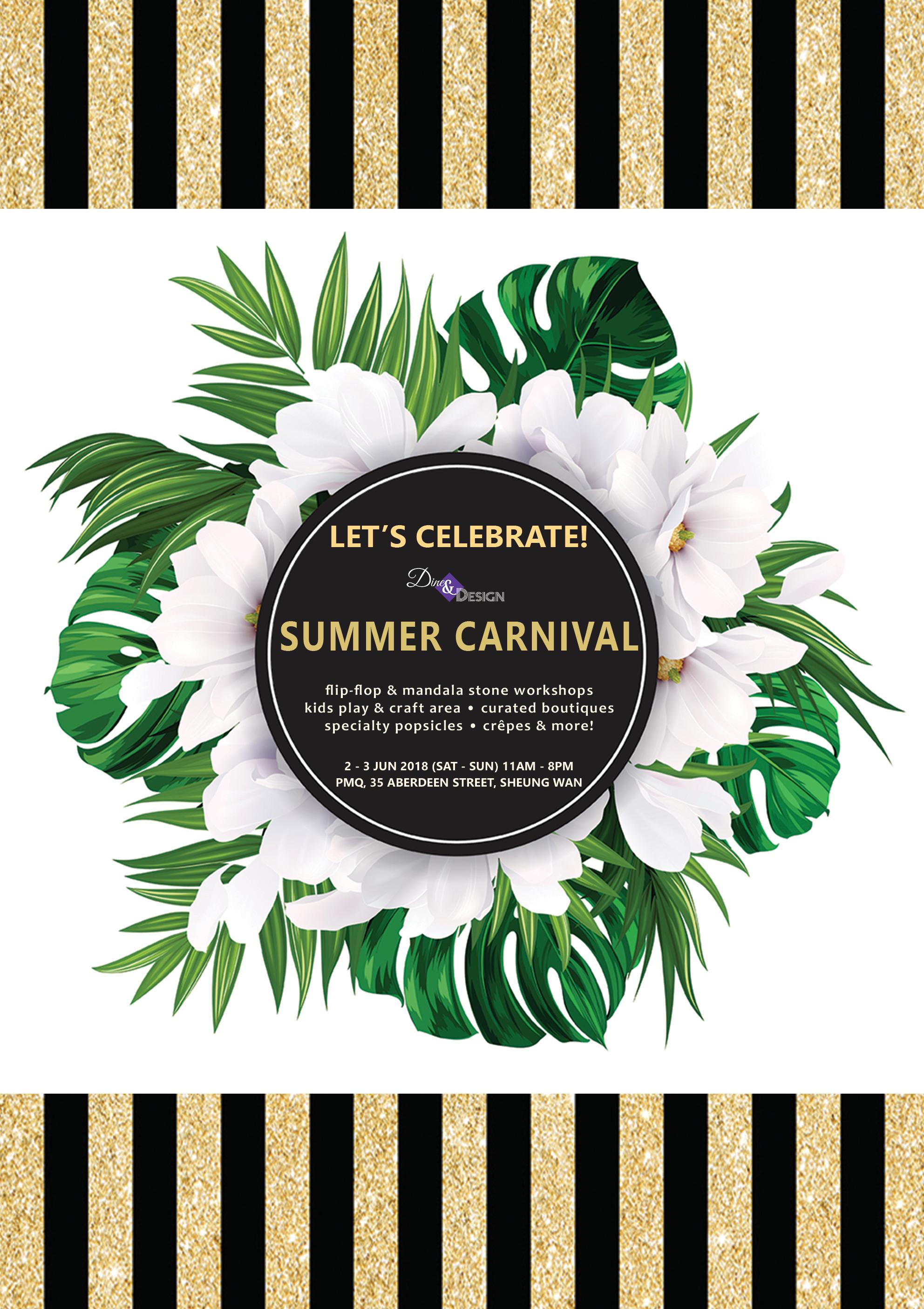 Paper-Roses | Events | Dine & Design Summer Carnival 2-3 June 2018