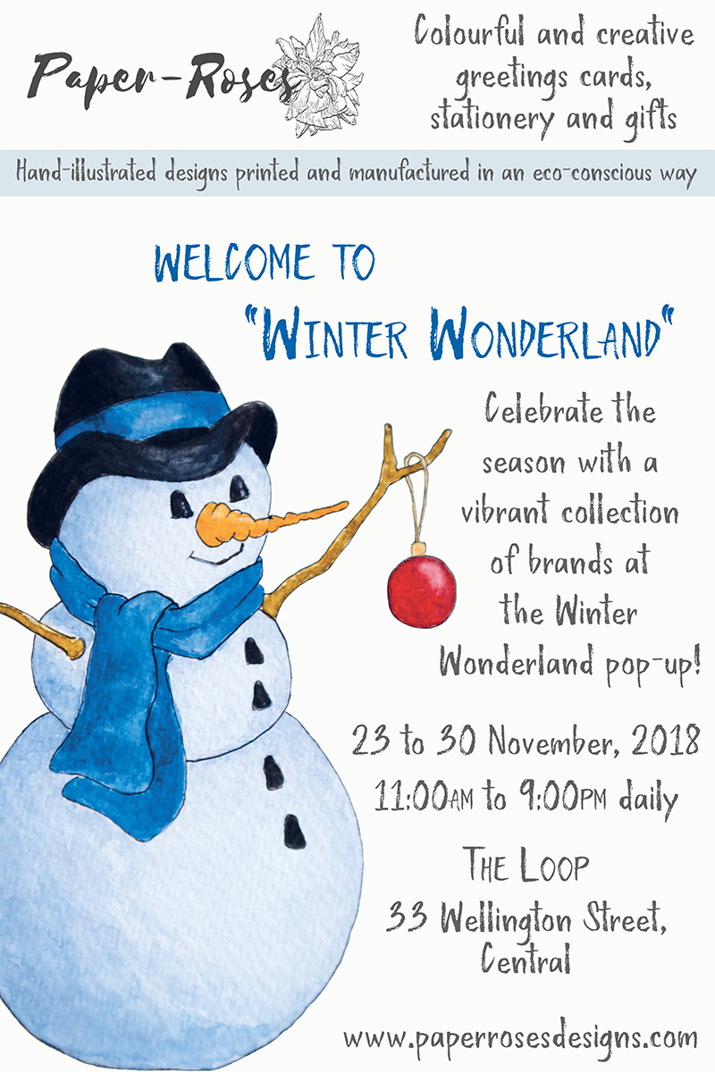 Paper-Roses   Events   Winter Wonderland Pop-Up   23 to 30 November 2018