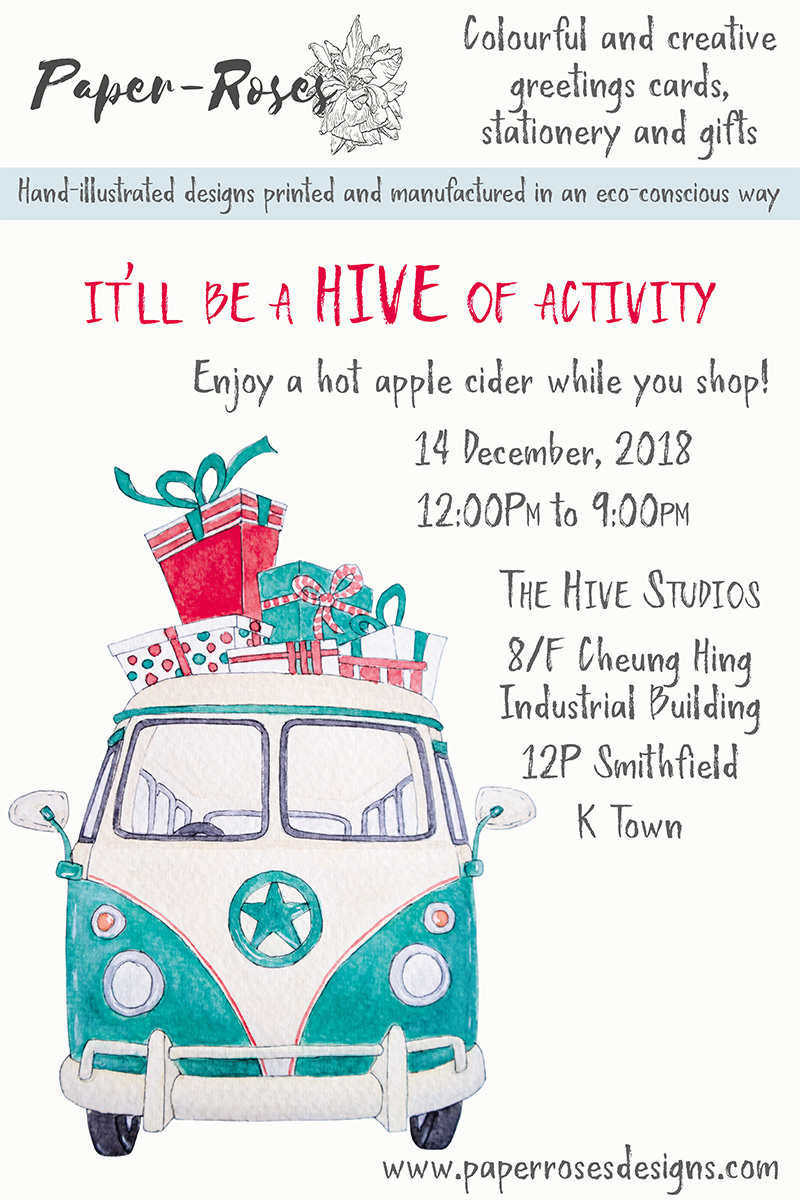 Paper-Roses | Events | The Hive Studios Christmas Bazaar | 14 December 2018