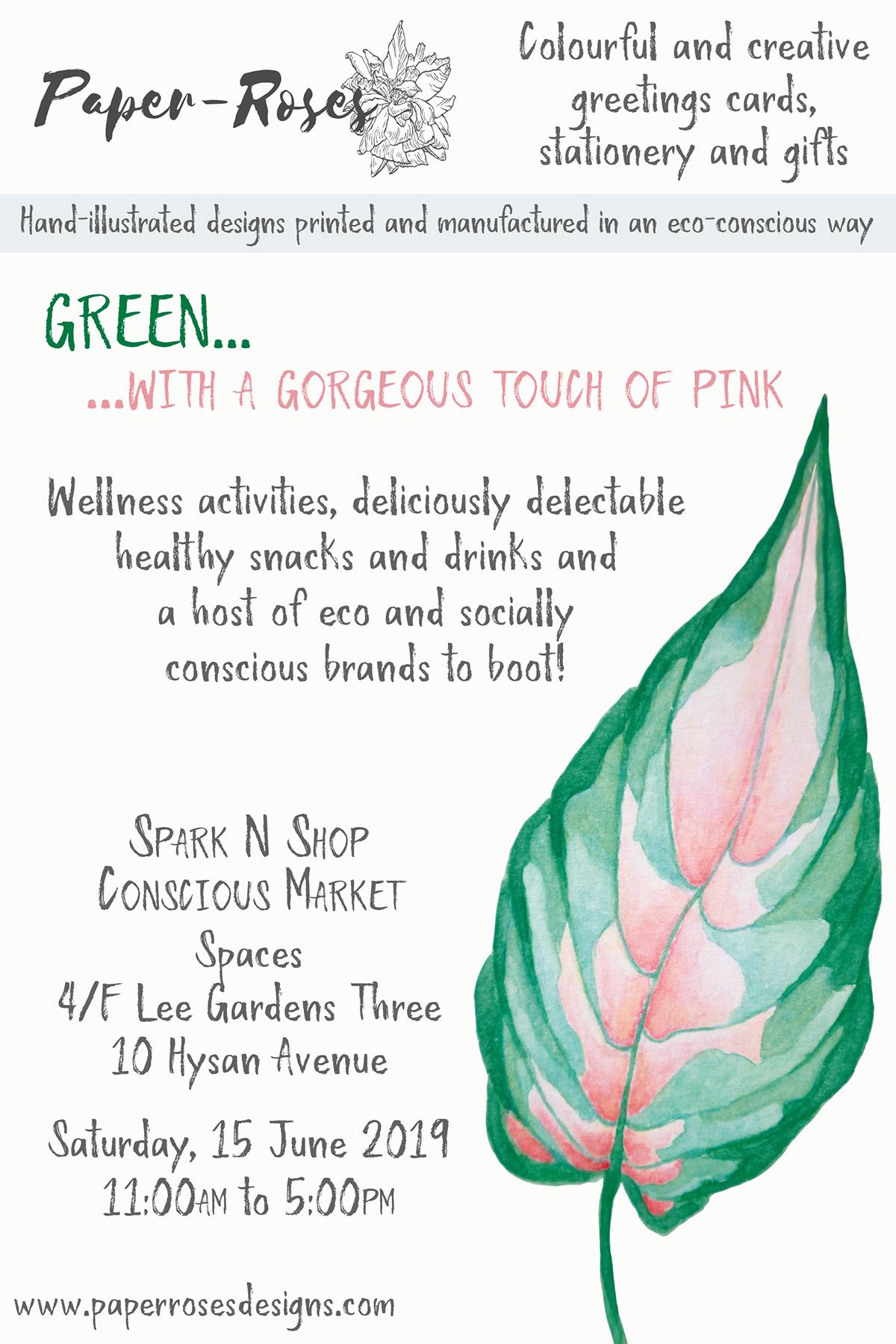 Paper-Roses | Events | Spark'n'Shop Conscious Market | 15 June 2019