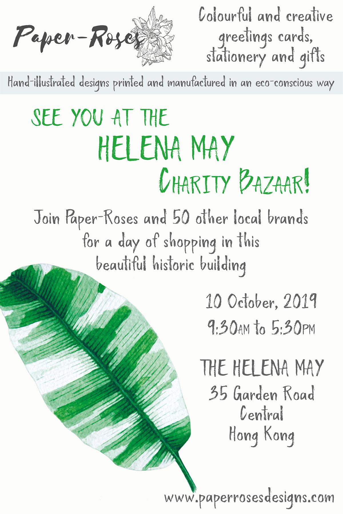 Paper-Roses | Events | Helena May Charity Bazaar | 10 October 2019